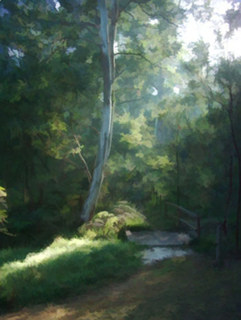 Painting of morning light